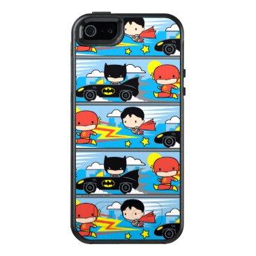 Chibi Flash, Superman, and Batman Racing Pattern OtterBox iPhone 5/5s/SE Case