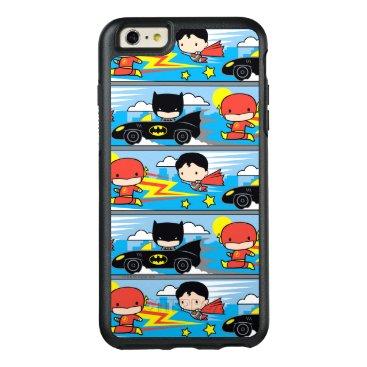 Chibi Flash, Superman, and Batman Racing Pattern OtterBox iPhone 6/6s Plus Case