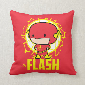Chibi Flash With Electricity Throw Pillow
