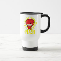 chibi flash, the flash logo, lightning bold, electricity, super hero, super speed, fast, justice league, dc comics, Mug with custom graphic design
