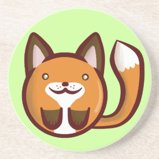 Chibi Fox Drink Coaster