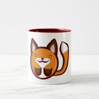 Chibi Fox Two-Tone Coffee Mug