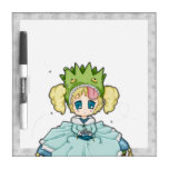 Chibi Frog Princess Dry Erase Whiteboard