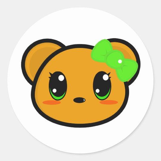 Chibi Girl Bear Sticker