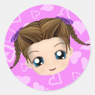 Chibi Girl Stickers