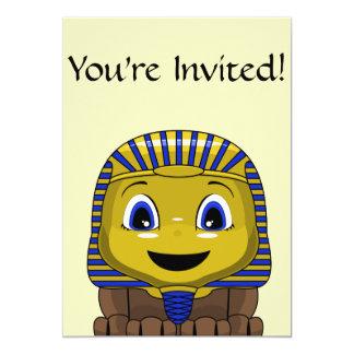Chibi Golden Sphinx 5x7 Paper Invitation Card