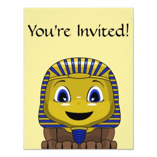 Chibi Golden Sphinx 4.25x5.5 Paper Invitation Card