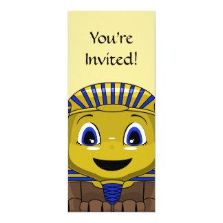 Chibi Golden Sphinx 4x9.25 Paper Invitation Card