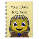 Chibi Golden Sphinx Spiral Note Books