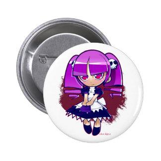 Chibi Goth 2 Inch Round Button