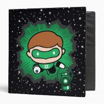 chibi green lantern, space, stars, super hero, justice league, dc comics, Binder with custom graphic design
