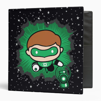 Chibi Green Lantern Flying Through Space Binder