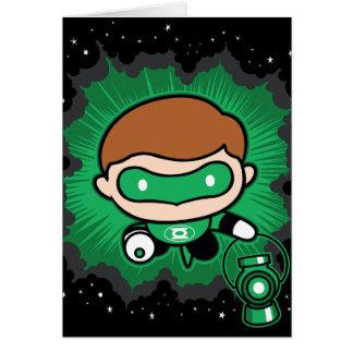 Chibi Green Lantern Flying Through Space Card