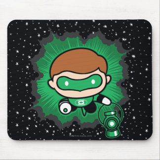 Chibi Green Lantern Flying Through Space Mouse Pad