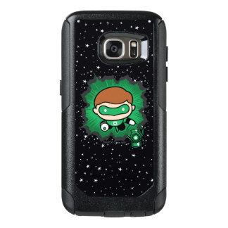 Chibi Green Lantern Flying Through Space OtterBox Samsung Galaxy S7 Case