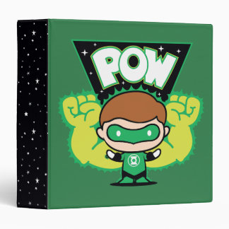 Chibi Green Lantern Forming Giant Fists 3 Ring Binder