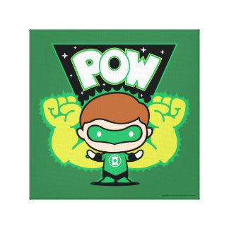 Chibi Green Lantern Forming Giant Fists Canvas Print