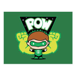 Chibi Green Lantern Forming Giant Fists Postcard