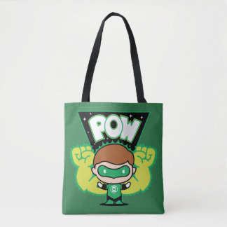 Chibi Green Lantern Forming Giant Fists Tote Bag