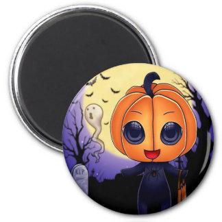 Chibi Halloween 2 Inch Round Magnet