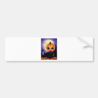 Chibi Halloween Car Bumper Sticker