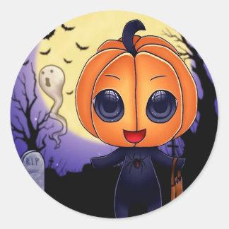 Chibi Halloween Classic Round Sticker