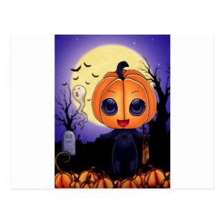 Chibi Halloween Postal