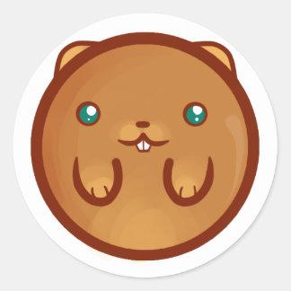 Chibi Hamster Classic Round Sticker