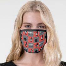 Chibi Harley Quinn Checker Pattern Face Mask