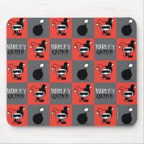Chibi Harley Quinn Checker Pattern Mouse Pad