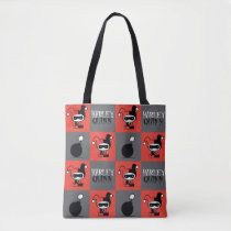 Chibi Harley Quinn Checker Pattern Tote Bag