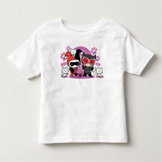 Chibi Harley Quinn & Chibi Catwoman With Cats Toddler T-shirt