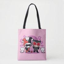chibi harley quinn, chibi catwoman, cats, kittens, yarn, playing, meow, super villains, batman, justice league, dc comics, [[missing key: type_manualww_tot]] with custom graphic design