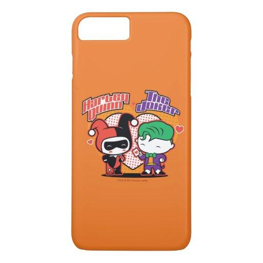 Chibi Harley Quinn & Chibi Joker Hearts iPhone 8 Plus/7 Plus Case