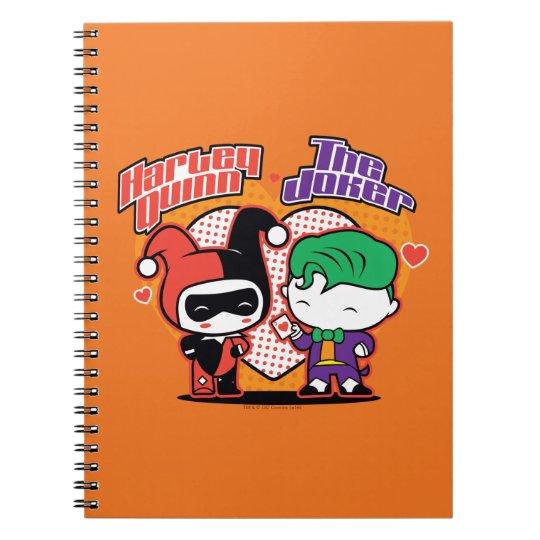 Chibi Harley Quinn & Chibi Joker Hearts Notebook | Zazzle.com