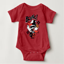 Chibi Harley-Quinn-In-A-Box With Hammer Baby Bodysuit
