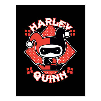 Chibi Harley Quinn Splits Postcard