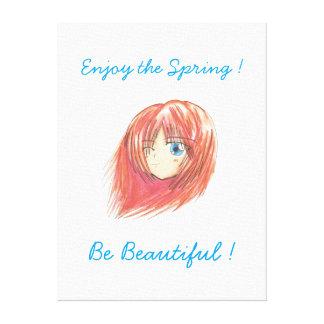 Chibi Harumi 'Be Beautiful' Canvas Stretched Canvas Prints