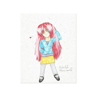 Chibi Harumi Casual Fashion 8X10 Canvas Stretched Canvas Prints