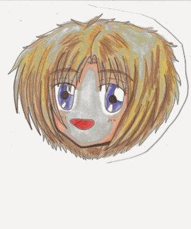 Chibi Head Ayame T-Shirt Raglan Iris/Navy