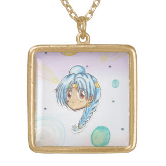 Chibi Head- Miko Astronomy Planets Neckalce Gold Plated Necklace