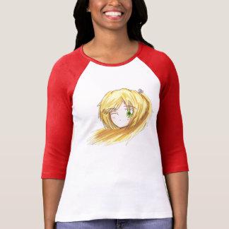 Chibi Head- Ran Raglan Red/White TShirt