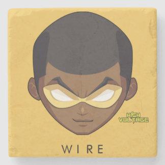 Chibi Head Wire Stone Coaster