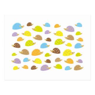 chibi hedgehog postcard