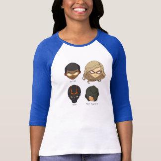 Chibi Heroes 3/4 Sleeve T-Shirt (Blue)