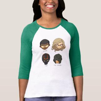 Chibi Heroes 3/4 Sleeve T-Shirt (Green)