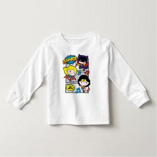 Chibi Heroes Dancing Toddler T-shirt