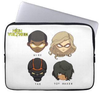 Chibi Heroes Laptop Case