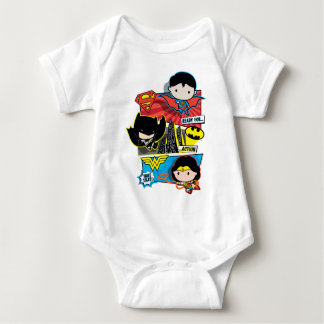 Chibi Heroes Ready For Action! Baby Bodysuit