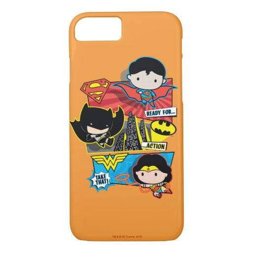 Chibi Heroes Ready For Action! iPhone 8/7 Case